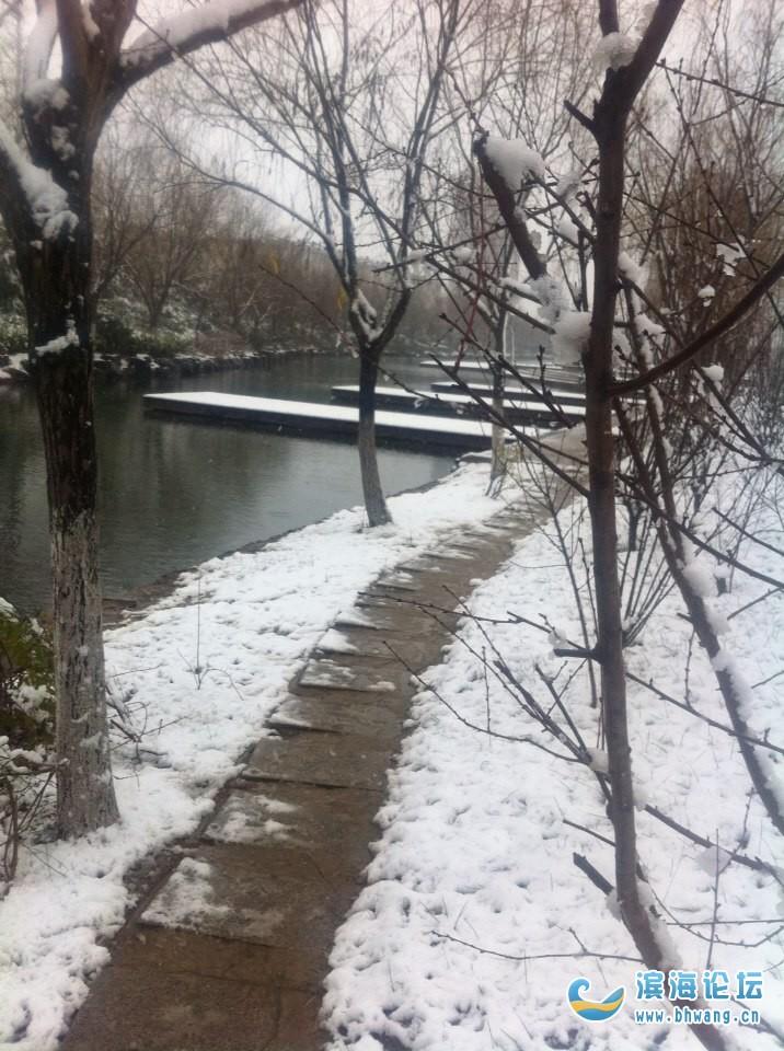 西湖 雪景