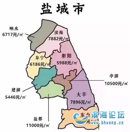 10月份江苏房价地图出炉!快来看看滨海的房价