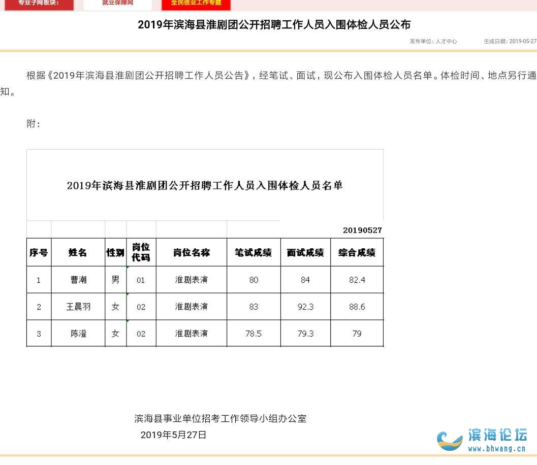 滨海县淮剧团——史上最垃圾的招聘考试