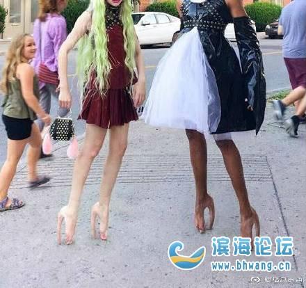 国外发明的猪蹄高跟鞋,设计参照了猪蹄,你能接受这设计吗