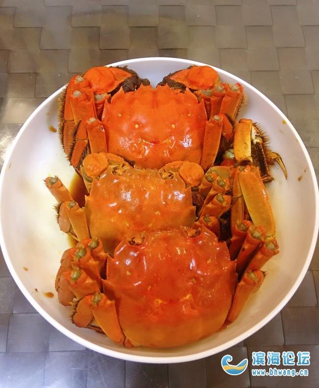 给公婆还有老公做了点醉蟹,味道美美哒!
