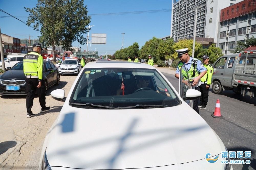 迅速行动!滨海警方开展交通安全隐患大排查