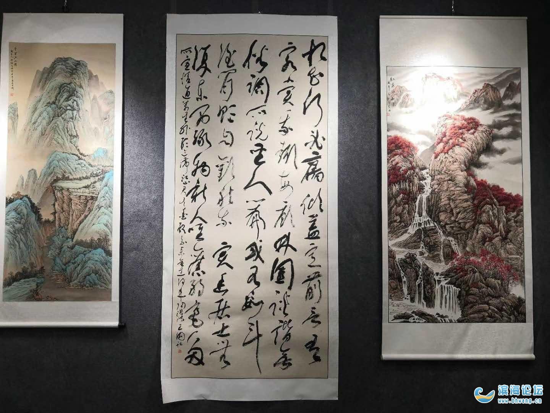 《棠棣墨韵 庄其卫、王国社兄弟书画展》在滨海县湖海艺文社举办