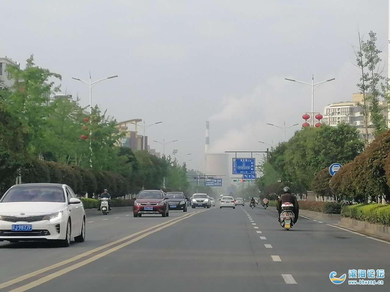 滨海县环保局真,这个水蒸汽冒的真漂亮!滨海特色!!