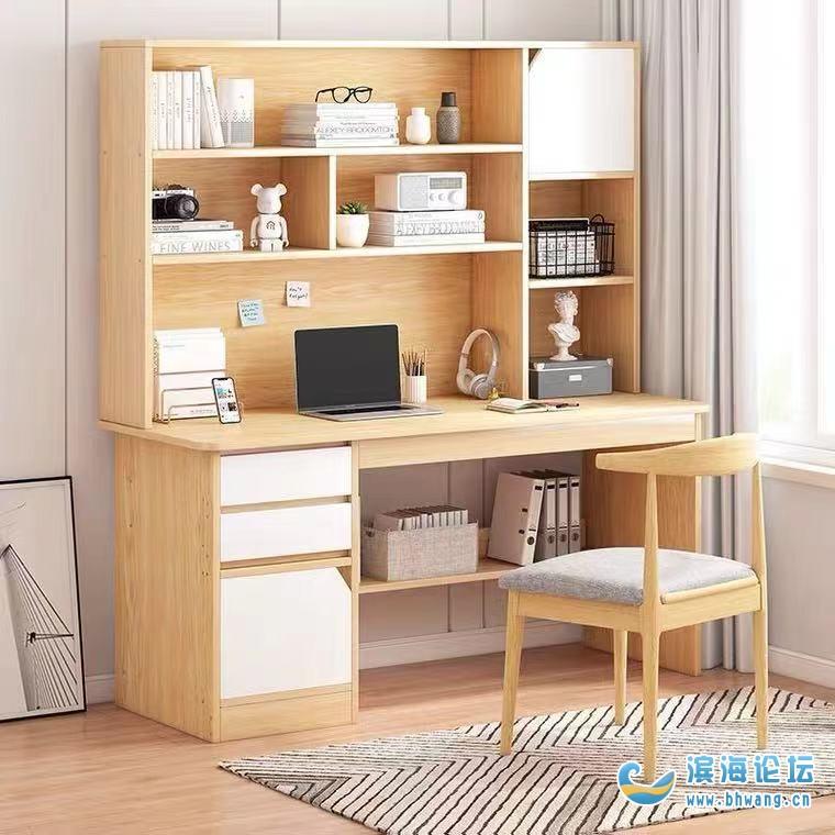 請問濱海哪里有圖片中這種書桌賣的?